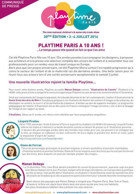 Playtime a 10 ans!
