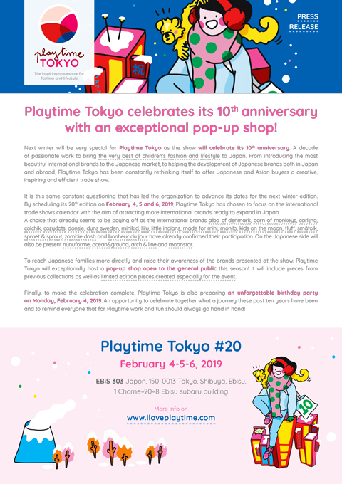 Playtime Tokyo is 10 years old!