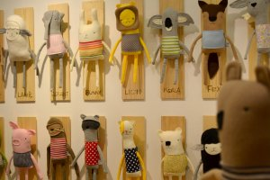 Finkelstein toys at Playtime New York, summer 2015