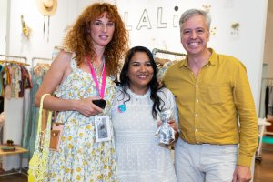 Lali receiving the Pirouette One To Watch Award at Playtime New York, summer 2019