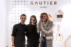 Gautier studio receiving the One To Watch prize from Pirouette, winter 2018