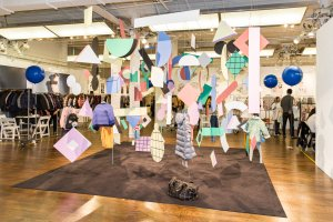 Trend Space 'The Creative Gang' art installation by Rose Wong, styling by Mariah Walker
