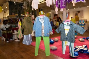 Trend Space 'Press Start' art installation by Sophia Sobers, styling by Mariah Walker