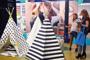 Wildfire teepees at Playtime Paris, summer 2016