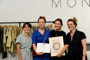 Monkind receiving the Milk Award in the 'Fashion' category, summer 2019