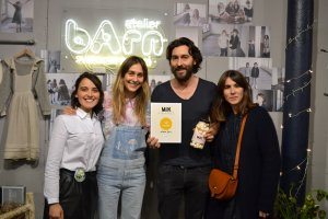 atelier barn receiving the Milk Magazine Fashion Award