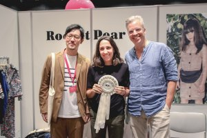 Rocket Pear receiving the Milk Japon Editor's Choice Award, August 2018