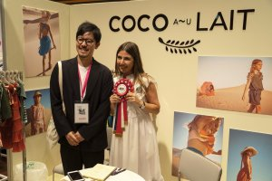 Coco au Lait receiving Milk Japon Award, summer 2019